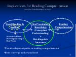 implications for reading comprehension modified from berninger in press