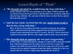 lexical depth of think