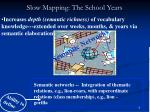 slow mapping the school years