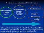 vocabulary accumulation in first 4 years