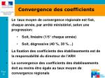 convergence des coefficients