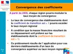 convergence des coefficients18