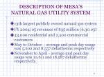 description of mesa s natural gas utility system4