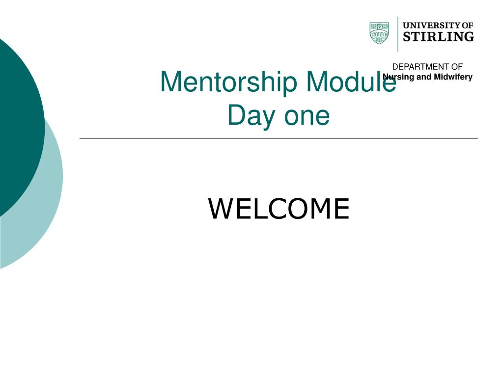 mentorship module day one l.