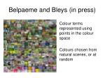 belpaeme and bleys in press