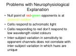problems with neurophysiological explanation