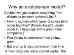 why an evolutionary model