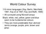 world colour survey
