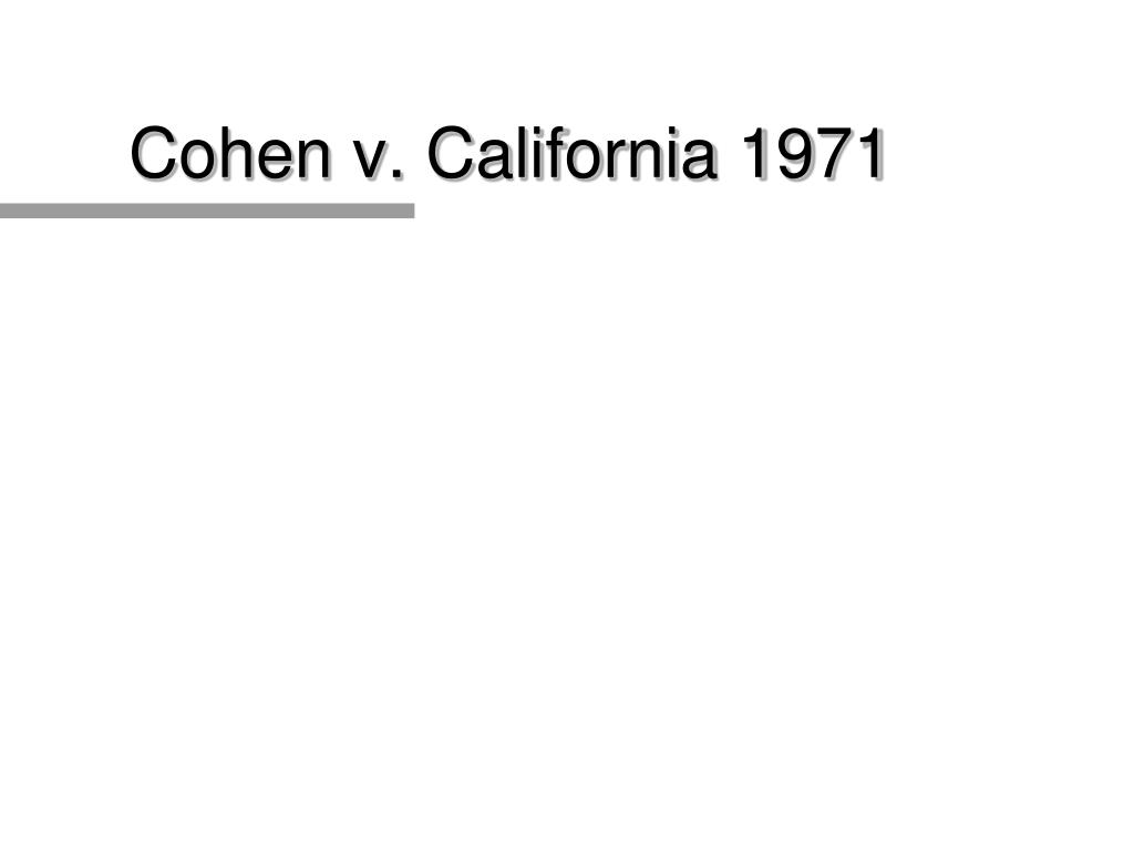 Cohen v. California 1971