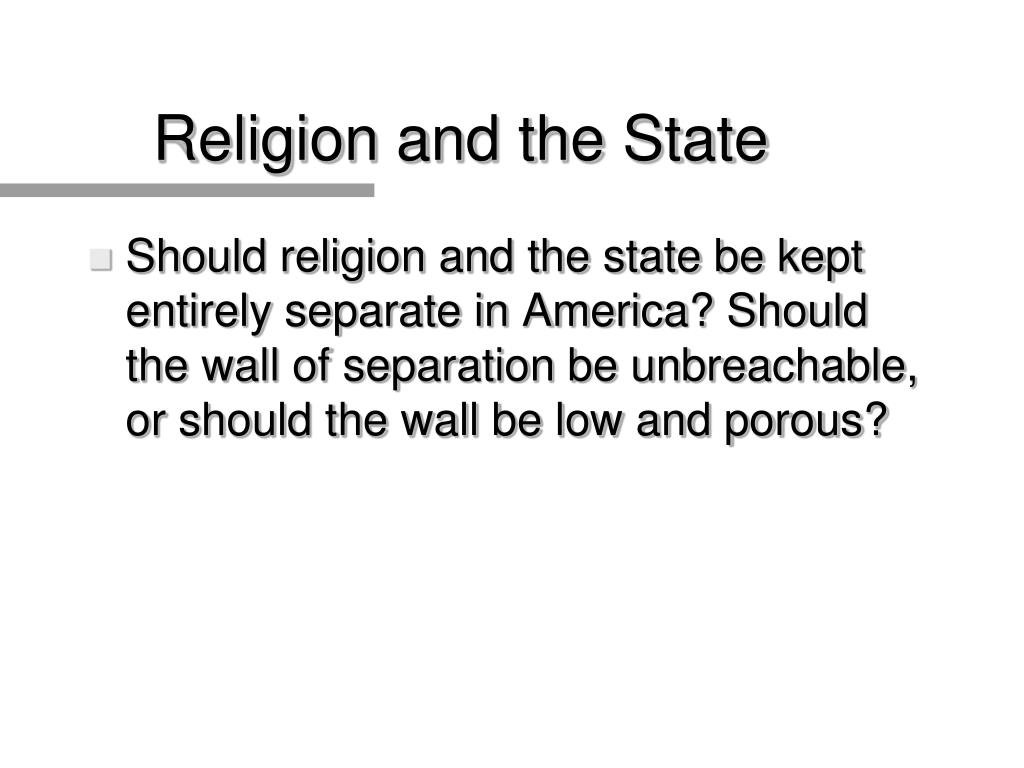 Religion and the State