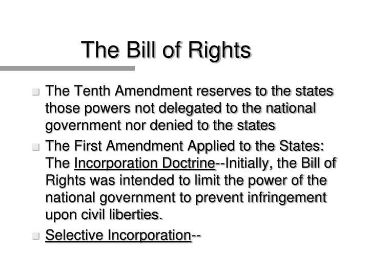 The bill of rights3