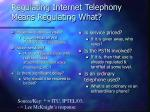 regulating internet telephony means regulating what