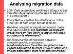 analysing migration data
