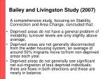 bailey and livingston s tudy 2007