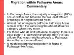 migration within pathways areas commentary