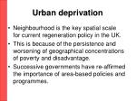 urban deprivation