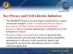 key privacy and civil liberties initiatives18