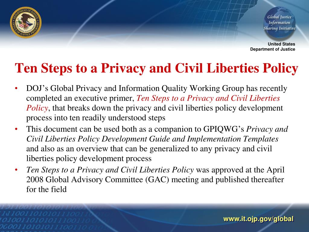 Ten Steps to a Privacy and Civil Liberties Policy