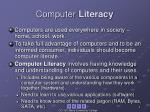computer literacy