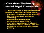 i overview the newly created legal framework11