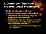 i overview the newly created legal framework12