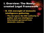 i overview the newly created legal framework13