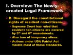 i overview the newly created legal framework15