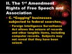 ii the 1 st amendment rights of free speech and association18
