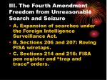iii the fourth amendment freedom from unreasonable search and seizure22