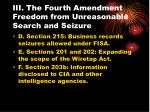 iii the fourth amendment freedom from unreasonable search and seizure23