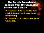 iii the fourth amendment freedom from unreasonable search and seizure24