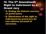 iv the 5 th amendment right to indictment by a grand jury