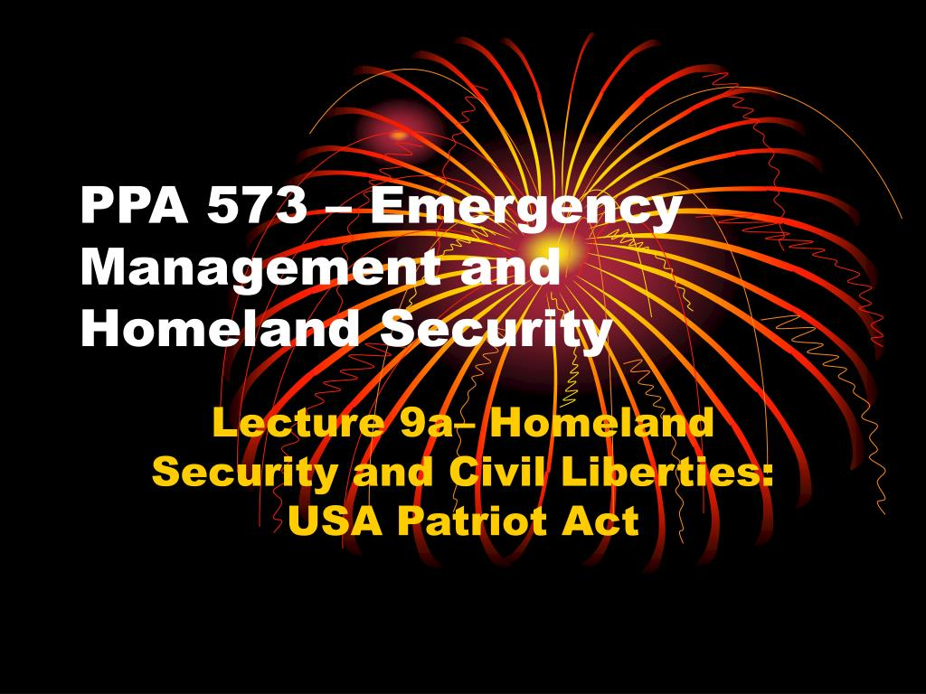 ppa 573 emergency management and homeland security l.