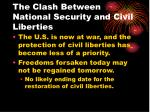 the clash between national security and civil liberties8
