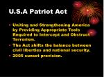 u s a patriot act