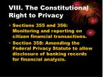 viii the constitutional right to privacy
