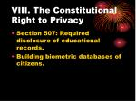 viii the constitutional right to privacy30