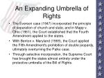 an expanding umbrella of rights70
