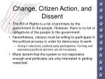 change citizen action and dissent