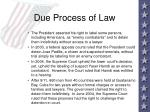 due process of law60