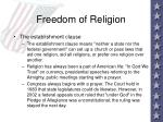 freedom of religion36