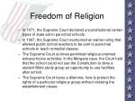 freedom of religion39