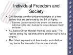 individual freedom and society