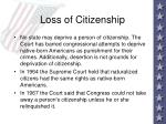 loss of citizenship