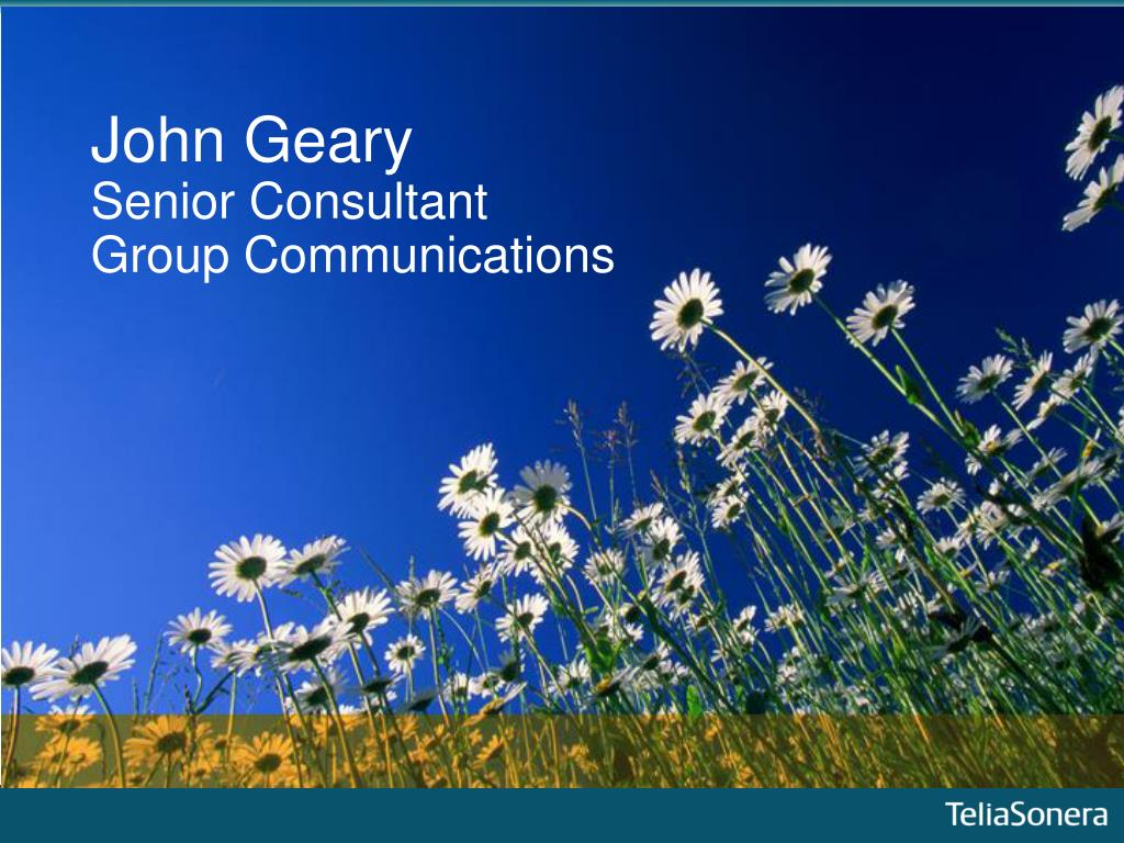 john geary senior consultant group communications l.