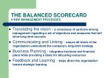 the balanced scorecard 4 new management processes