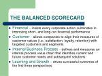 the balanced scorecard7
