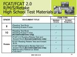 fcat fcat 2 0 r m s retake high school test materials