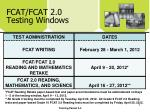 fcat fcat 2 0 testing windows
