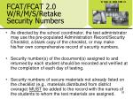 fcat fcat 2 0 w r m s retake security numbers26